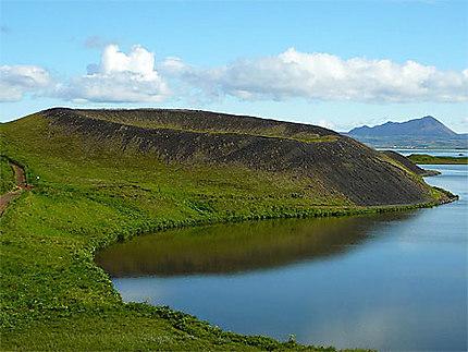 Pseudo-cratères du lac Myvatn