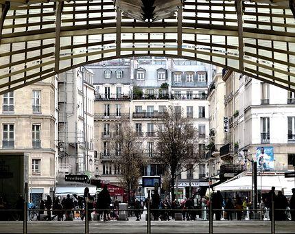 La Canopée, coté rue Pierre Lescot