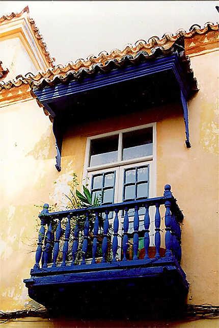 "Balcon ""outremer"" à Cartagène"