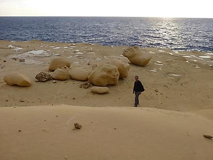Roches lunaires à Gozo