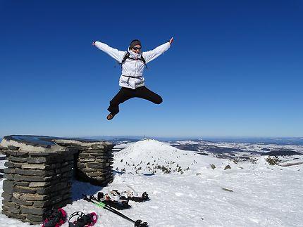 Bonheur au sommet, mont Mézenc
