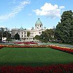 Centre ville de Belgrade avec vue sur le parlement