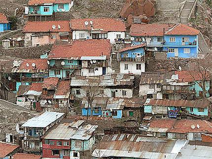 Maisons des quartiers pauvres autour de la citadelle