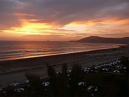 Coucher de soleil sur Agadir