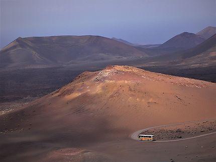 Lanzarote, route du parc national de Timanfaya