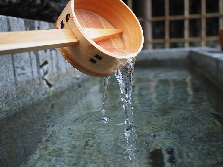 Dans un temple à Kyoto, Japon