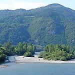 Ile sur la rivière Drina près de Perucac