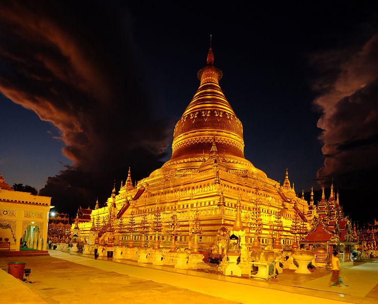 Pagode Shwezigon, Birmanie