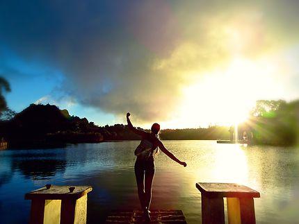 Marcher sur l'eau, Grand Bassin de Curepipe