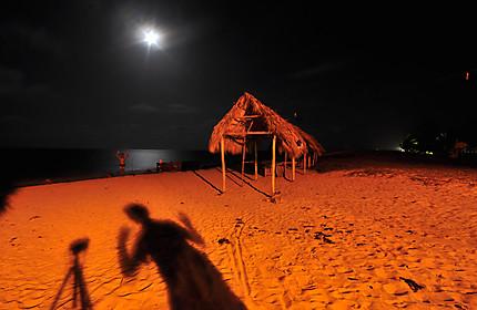 Faux mirroir dans la nuit