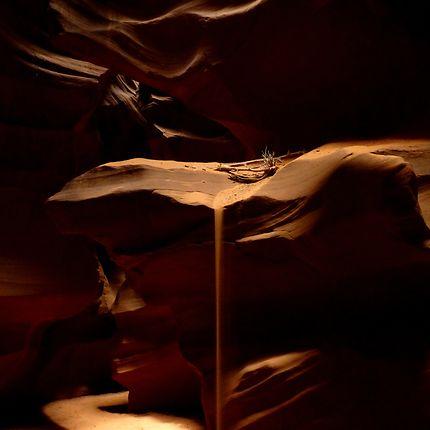 Les draperies d'Antelope canyon