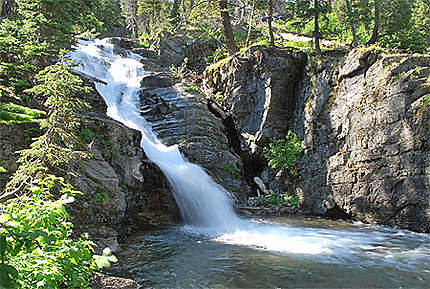 Twin falls, glacier national park