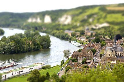 Vue des Andelys depuis le Château Gaillard