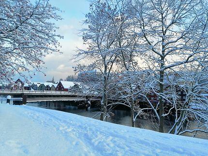 Trondheim sous la neige