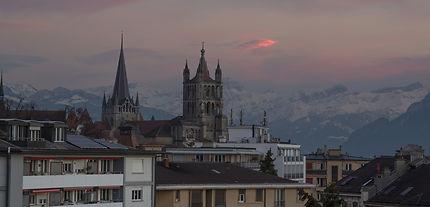 Vue de la cathédrale de Lausane, Suisse