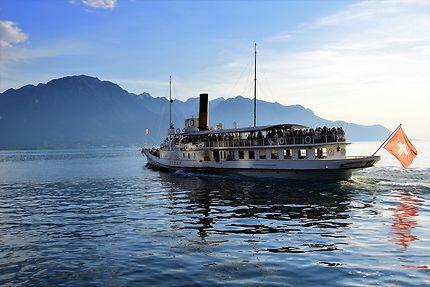 Promenade en bateau à Montreux