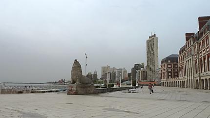 Mar del Plata la plage désertée