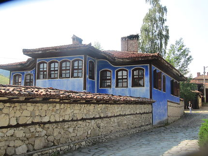 Une maison bleue...