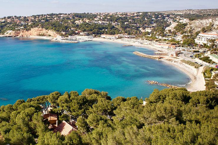 Les plages du Rouet et du Cap Rousset