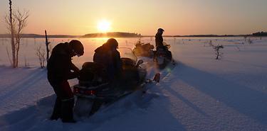 Raid Motoneige en Laponie : Terres Arctiques