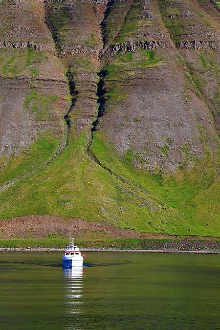 Dans le port d'Isafjordur