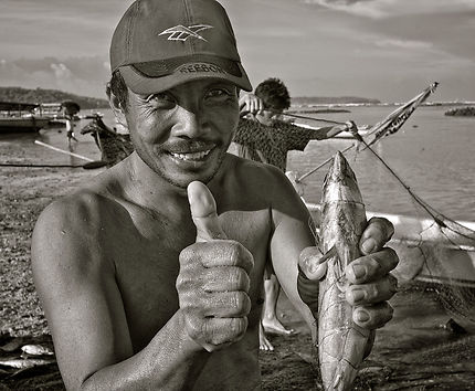 Retour de pêche à Lembongan