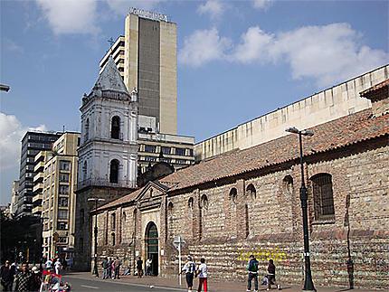 Centre de Bogotá avec l'église de San Francisco