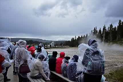 Pluie sur le Yellowstone