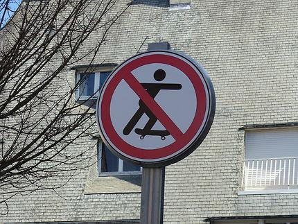 Glisse interdite à Vannes