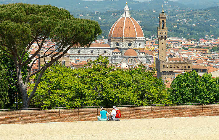 Contempler Florence depuis San Miniato