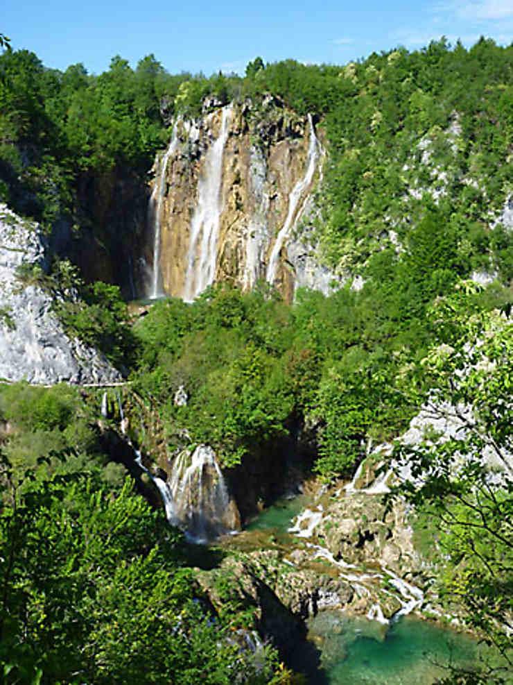 Les lacs de Plitvice, en vert et bleu