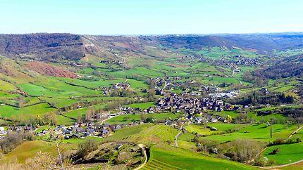 Vue sur Clairvaux d'Aveyron