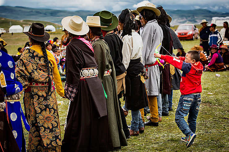 Jeu d'enfant, Chine (entre le Sichuan et le Tibet)