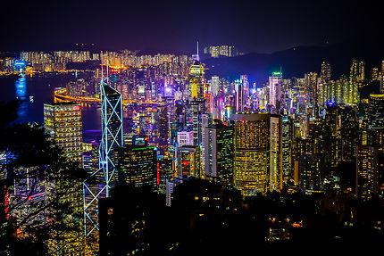 Vue de Hong Kong depuis Victoria Peak