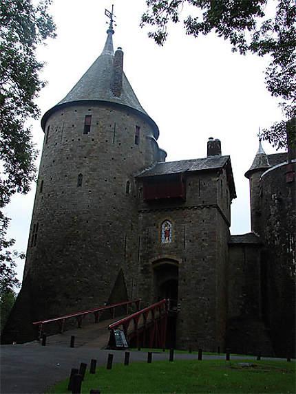Castell Coch vu de l'extérieur