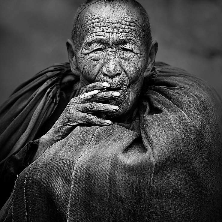 Homme de l'ethnie Yi, Montagnes Daliang Mountains, Sichuan, Chine