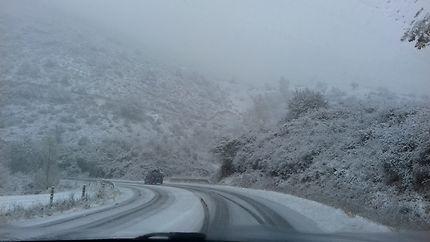 Premières neiges dans l'Aveyron