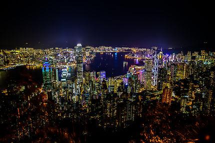 Panorama de Hong Kong depuis le Peak