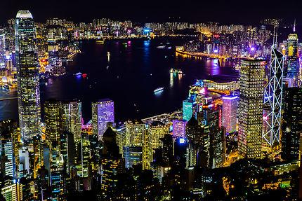 Vue de Hong Kong depuis le Peak