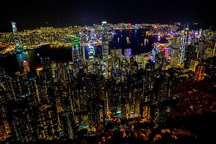 Vue sur Hong Kong depuis Victoria Peak