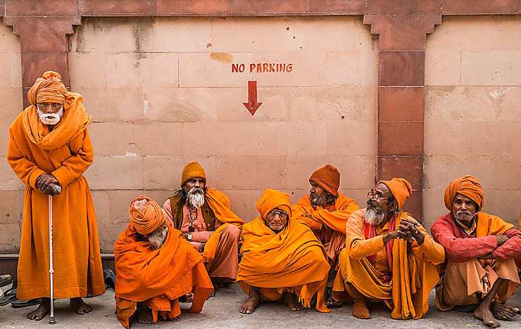 Sadhus à Haridwar, Inde