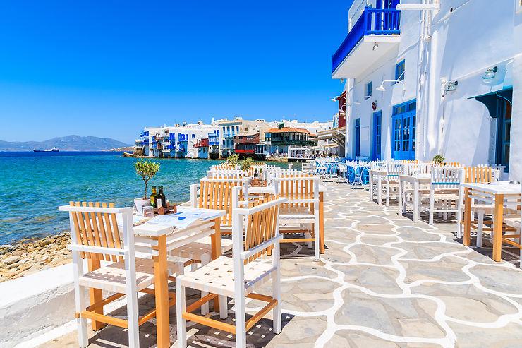 Mykonos, l'île blanche et bleue des Cyclades