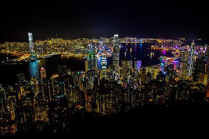 Vue sur Hong Kong depuis le Peak