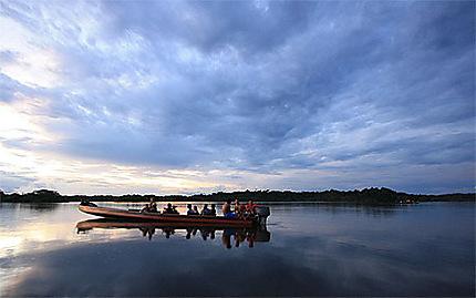 Couché de soleil sur la Laguna Grande