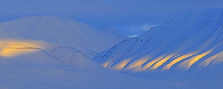 Lumière sur le Svalbard, Norvège