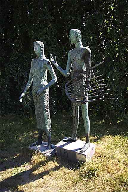 Statue d'Orphée et Eurydice