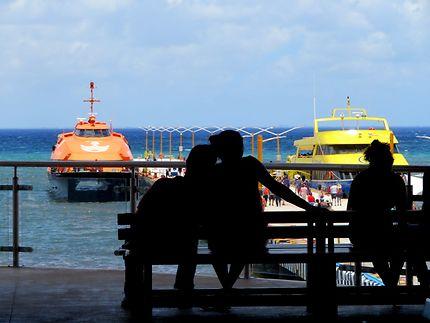 Embarcadère pour Cozumel