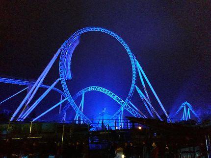 Blue fire de nuit, Europa-Park