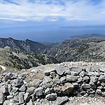 Du sommet du Taygéte le golfe de Messénie