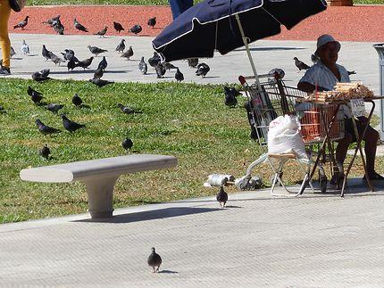 Petit vendeur à Buenos Aires